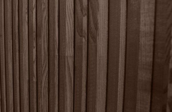 WOOOD Gravure Hoge Kast Korpus Zwart En Deuren Bruin Black/brown Kast