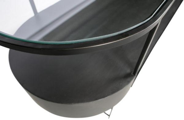 WOOOD Imani Sidetable Metaal Donkergrijs Dark grey Eettafel