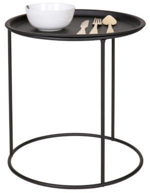 WOOOD Ivar Bijzettafel Medium 40cm Zwart Black Eettafel