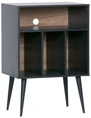 WOOOD James Kastje Noten/zwart Black/walnut Kast