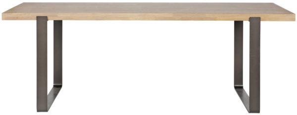 WOOOD Jamie Eettafel 180x90cm Eiken Metalen Poten Onbehandeld Eettafel