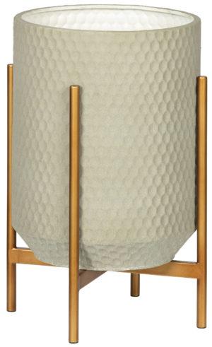 WOOOD Juul Plantenpot Metaal Betongrijs Concrete grey Woonaccessoire