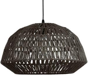WOOOD Kace Hanglamp Jute Zwart Ø45cm Black Lamp
