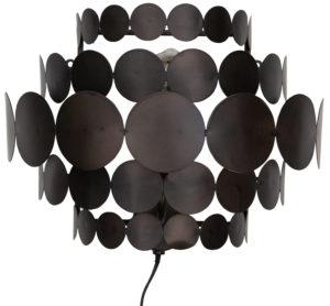 WOOOD Kaki Wandlamp Metaal Zwart Black Lamp