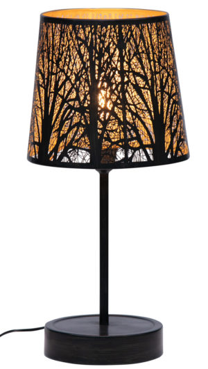 WOOOD Keto Tafellamp Metaal Zwart/antique Brass Black/antique brass Lamp