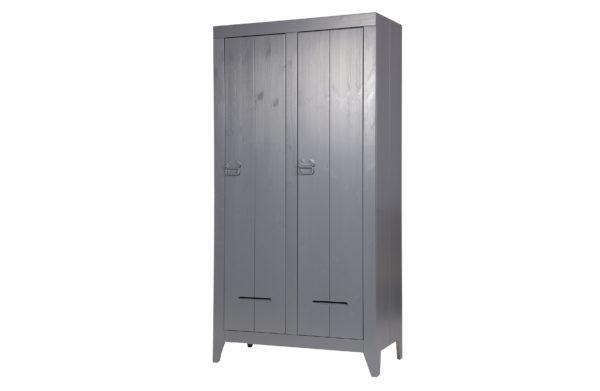 WOOOD Kluiskast Geborsteld Steel Grey Steel grey Kast