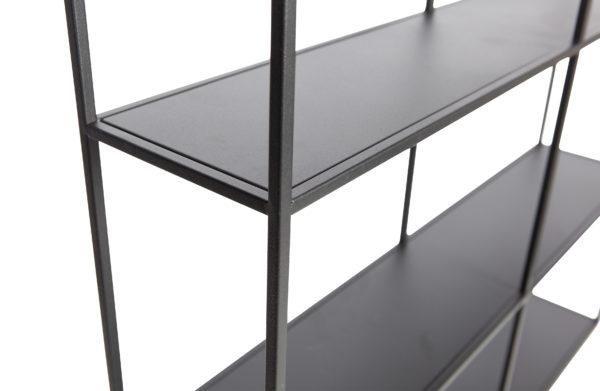 WOOOD Meert Vakkenkast 75x75cm Black Woonaccessoire