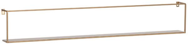 WOOOD Meert Wandplank Goud 100cm Gold Woonaccessoire
