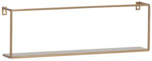 WOOOD Meert Wandplank Goud 50cm Gold Woonaccessoire