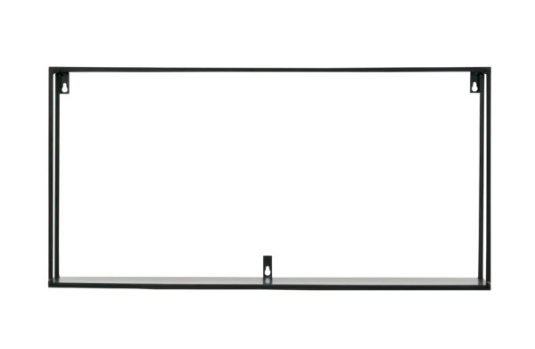 WOOOD Meert Wandplank Xl 70cm Black Woonaccessoire