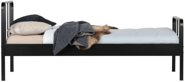 WOOOD Mees Bed Metaal Zwart 90x200cm Black Ledikant