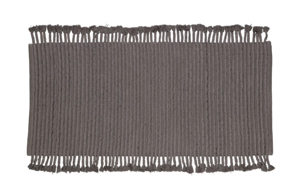 WOOOD Mink Vloerkleed Katoen Antraciet 170x240cm Anthracite Woonaccessoire