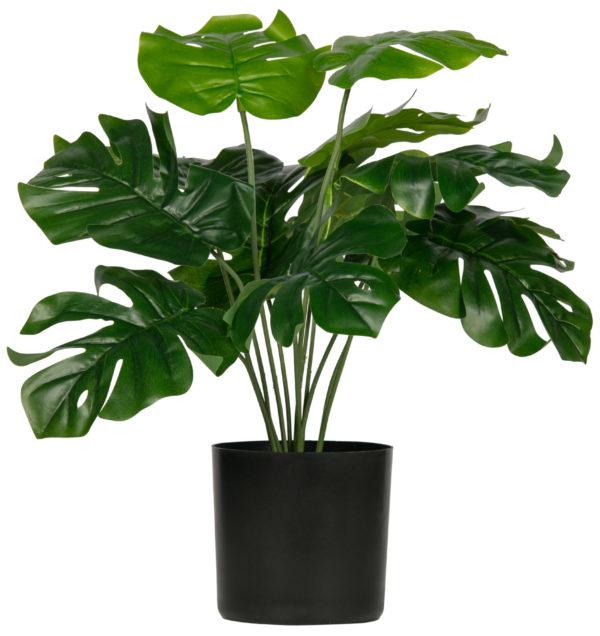WOOOD Monstera Kunstplant Groen 40cm Green Woonaccessoire