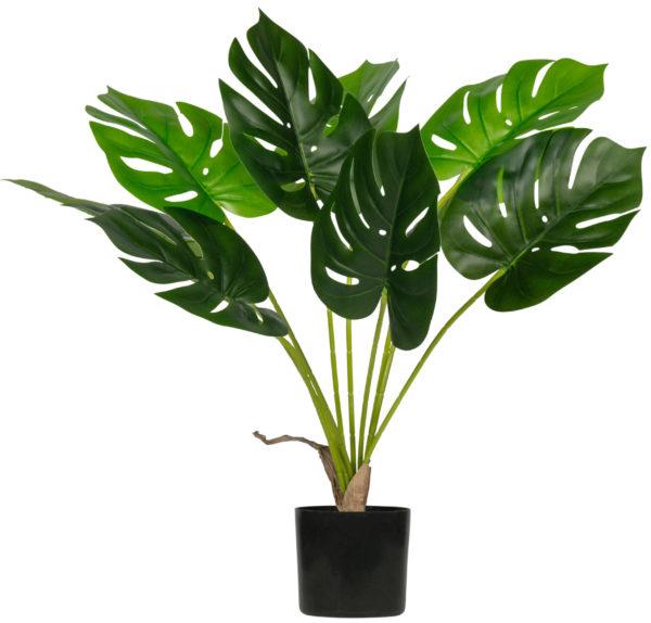 WOOOD Monstera Kunstplant Groen 70cm Green Woonaccessoire