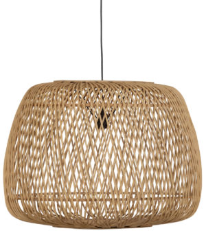 WOOOD Moza Hanglamp Bamboe Naturel 70x70cm Natural Lamp