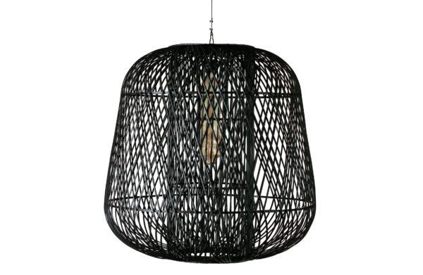 WOOOD Moza Hanglamp Bamboe Zwart 100x100cm Black Lamp