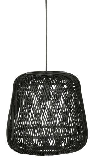 WOOOD Moza Hanglamp Bamboe Zwart 36x36cm Black Lamp