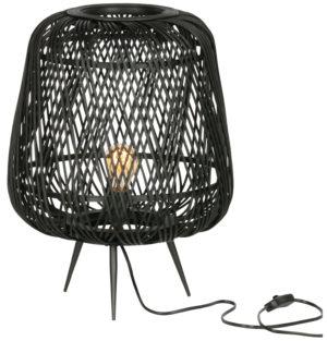 WOOOD Moza Tafellamp Bamboe Zwart Black Lamp