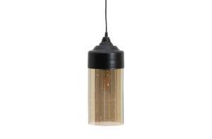 WOOOD Pippa Hanglamp Glas Zwart Ø12cm Black Lamp