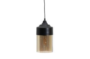 WOOOD Pippa Hanglamp Glas Zwart Ø16cm Black Lamp