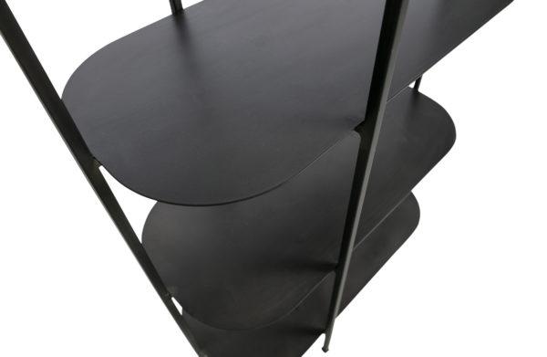WOOOD Reina Deco Rek Metaal Zwart Black Kast