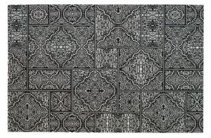WOOOD Renna Vloerkleed Zwart/wit 155x230cm Black/white Woonaccessoire