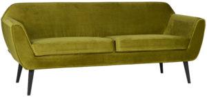WOOOD Rocco Sofa 187cm Fluweel Olive Olive green Bank