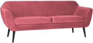 WOOOD Rocco Sofa 187cm Fluweel Pink Pink Bank