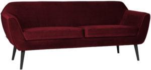 WOOOD Rocco Sofa 187cm Fluweel Red Red Bank