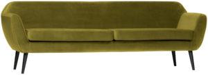 WOOOD Rocco Xl Sofa 230cm Fluweel Olive Olive green Bank