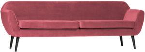 WOOOD Rocco Xl Sofa 230cm Fluweel Pink Pink Bank