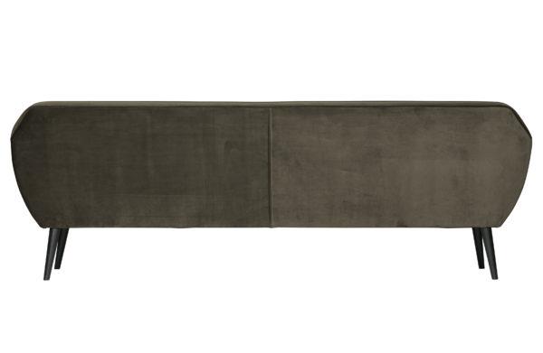 WOOOD Rocco Xl Sofa 230cm Fluweel Warm Groen Green Bank