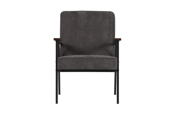 WOOOD Sally Fauteuil Antraciet Anthracite Bank
