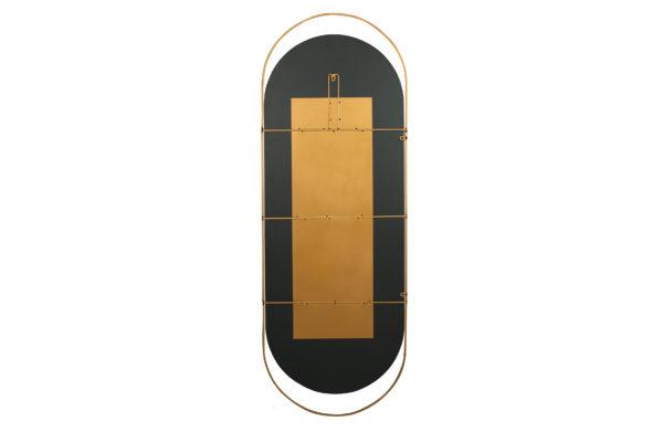 WOOOD Sanou Passpiegel Ovaal Xl Antique Brass 168x60 Antique brass Woonaccessoire