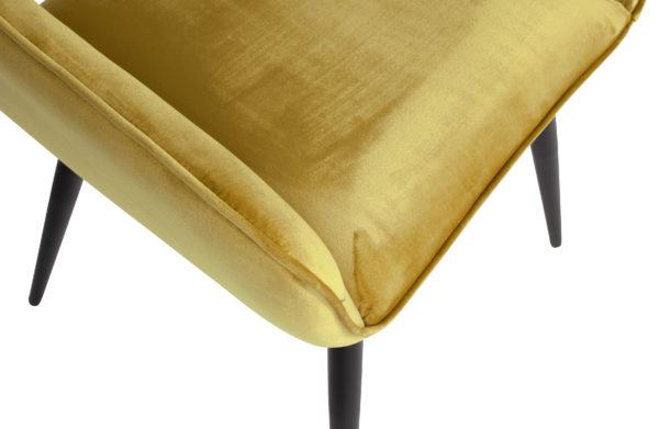 WOOOD Set V 2 - Jelle Stoel Fluweel Geel Yellow Eetkamerstoel