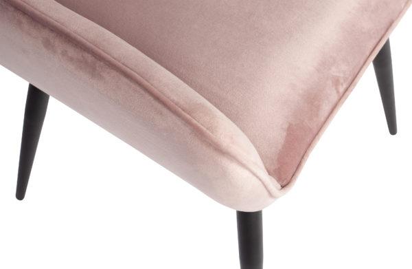 WOOOD Set V 2 - Jelle Stoel Fluweel Lichtroze Light pink Eetkamerstoel