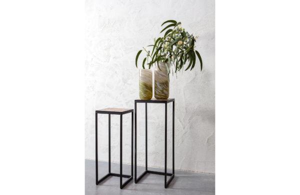 WOOOD Set V 2 - Vic Plantentafels Hout/metaal Natural Eettafel