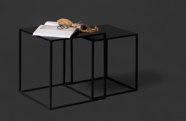 WOOOD Set V 2 - Ziva Bijzettafels Metaal Zwart Black Eettafel