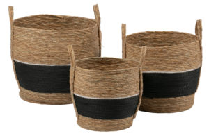 WOOOD Set V 3 - Alexa Manden Naturel/zwart Black/natural Woonaccessoire