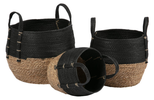 WOOOD Set V 3 - Amara Manden Naturel/zwart Black/natural Woonaccessoire