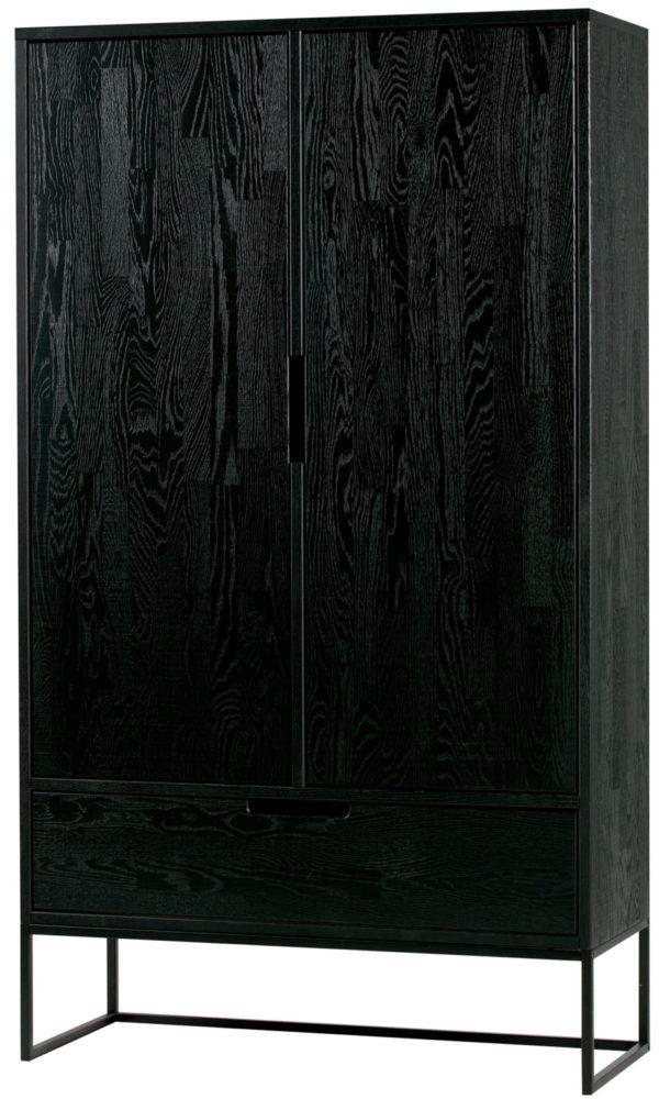 WOOOD Silas 2-deurs Kast Essen Blacknight Blacknight Kast