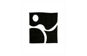 WOOOD Simple Black Art Poster 30x40cm Various Woonaccessoire