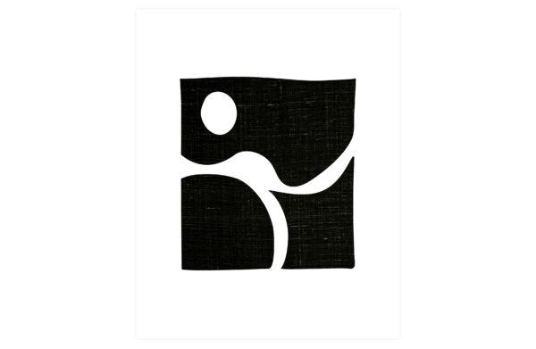 WOOOD Simple Black Art Poster 50x70cm Various Woonaccessoire