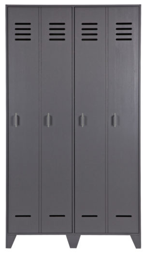WOOOD Stijn Hoog 2drs Lockerkast Steel Grey Steel grey Kast