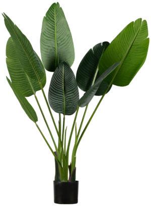 WOOOD Strelitzia Kunstplant Groen 108cm Green Woonaccessoire