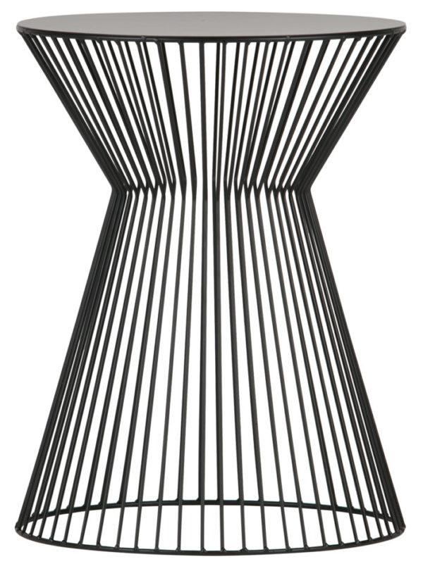 WOOOD Suus Bijzettafel Metaal Zwart Black Eettafel