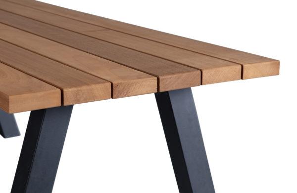 WOOOD Tablo Outdoor Eettafel Naturel Met A-poot Metaal Natural/black Eettafel