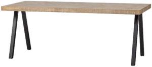 WOOOD Tablo Tafel Mango Visgraat 200x90 2-standen Poot White wash Eettafel