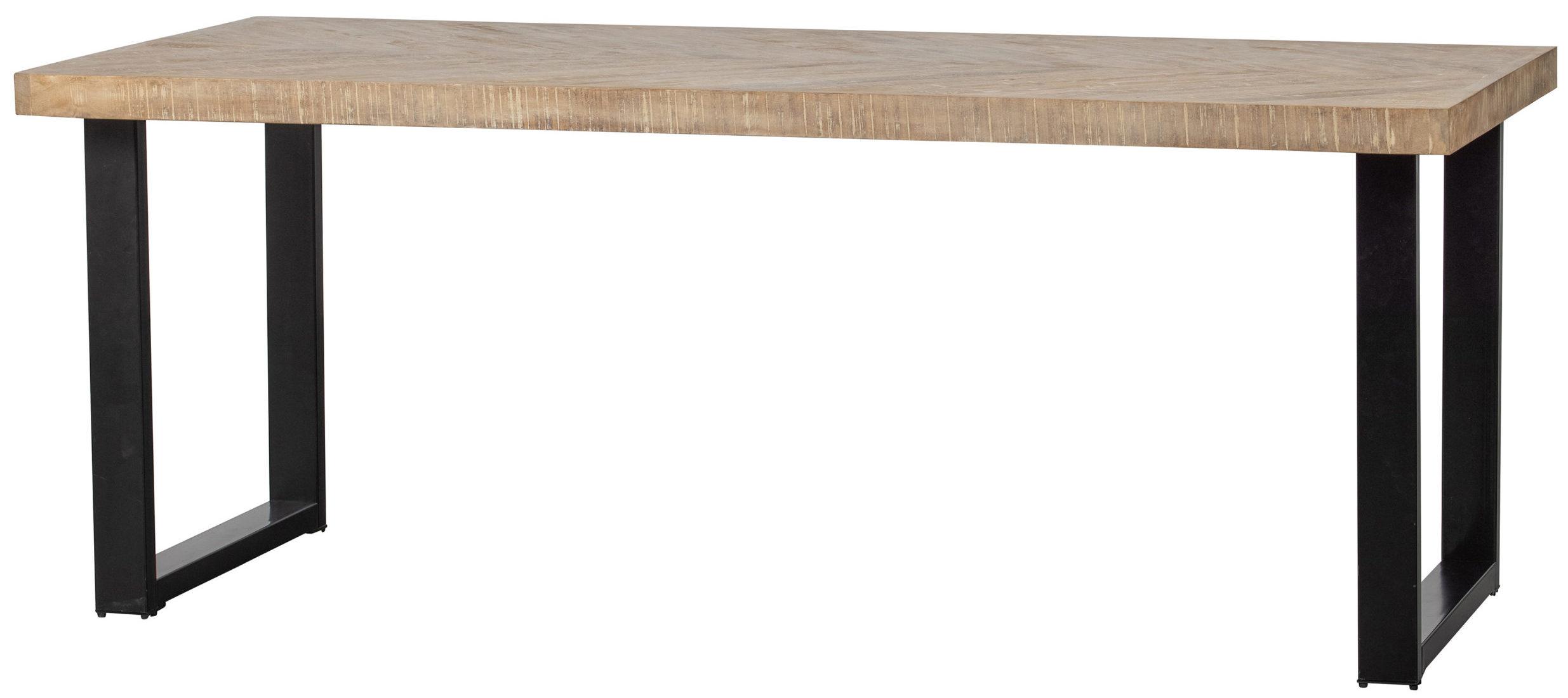 Tablo Tafel Mango Visgraat - 200x90 - U-poot