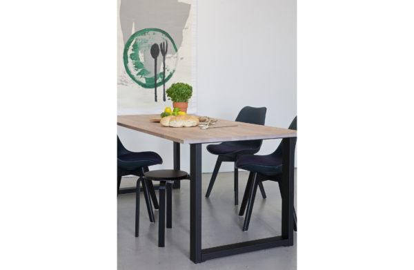 WOOOD Tablo U-poot/maastricht Kd Metaal 1 Stuks Black Eettafel